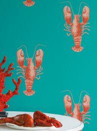 Papel de parede Zisani vermelho coral
