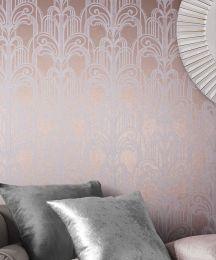 Wallpaper Emilia rosé gold shimmer