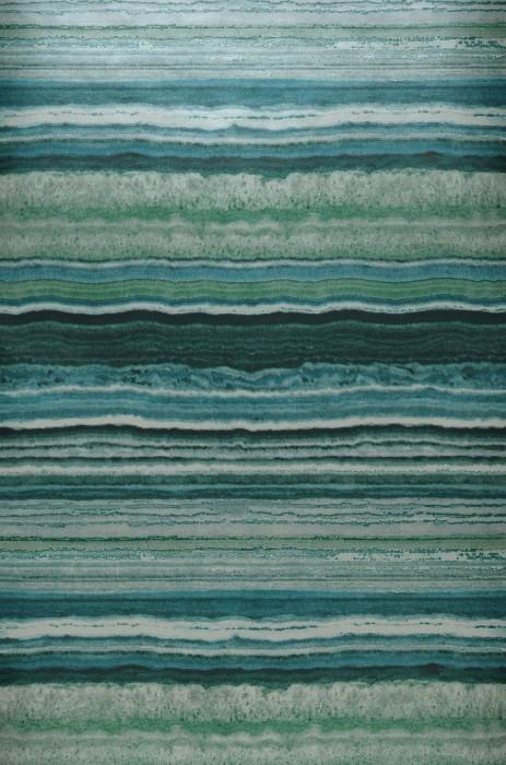 Tapete Sofonas Schimmernd Stein-Imitation Streifen Grüntöne