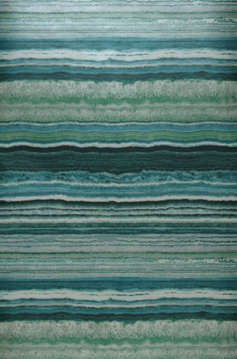 Wallpaper Sofonas Shimmering Imitation stone Stripes Shades of green