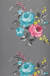 Papel pintado Olesia azul turquesa