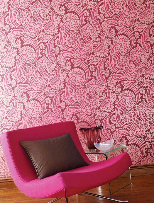 Archiv Wallpaper Sampati heather violet Room View