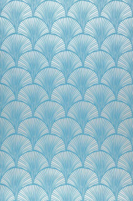 Papier peint géométrique Papier peint Nippon turquoise Largeur de lé
