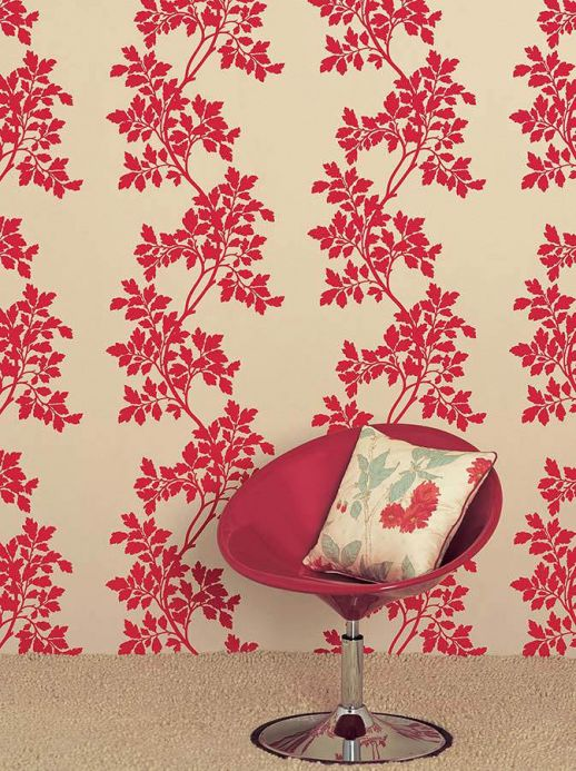 Archiv Wallpaper Proteus red Room View