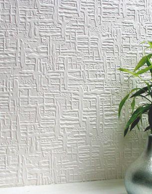 Papier peint Edward blanc Vue pièce