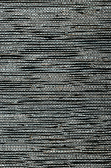 Natural Wallpaper Wallpaper Grasscloth 13 grey blue A4 Detail