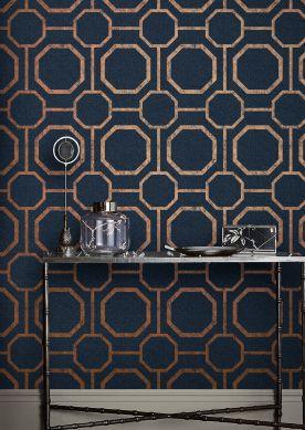 Papel de parede Kalea azul escuro Ver quarto