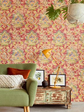 Wallpaper Lompal orient red Room View