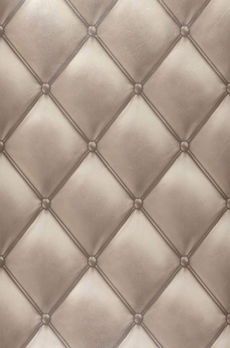 Papel de parede Maratul Brilhante Imitação de couro Marrom acinzentado pálido Branco creme Marrom acinzentado