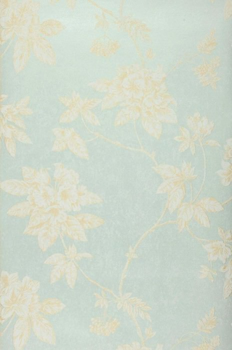 Wallpaper Tacita Matt pattern Shimmering base surface Leaves Blossoms Branches Pastel turquoise Beige shimmer Grey white