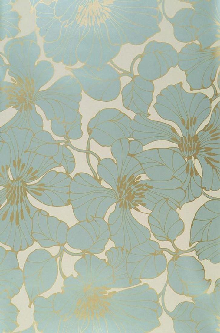 Indra blanc cr me dor lustre bleu clair papier - Papiers peints des annees 70 ...