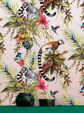 Papier peint Madagascar bois de rose chatoyant Vue pièce