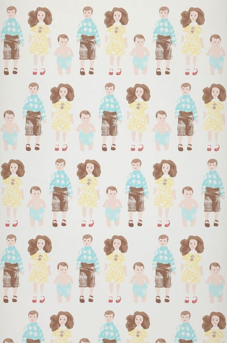 Archiv Papel pintado Dollhouse family amarillo pálido Ancho rollo