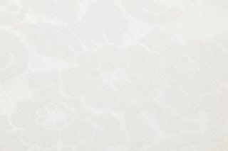 Carta da parati Leandra Brillante Damasco barocco Bianco crema