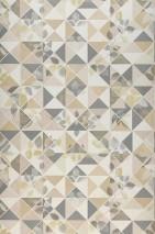 Tapete Waldivia Matt Blätter Geometrische Elemente Beige Cremeweiss Elfenbein Grau
