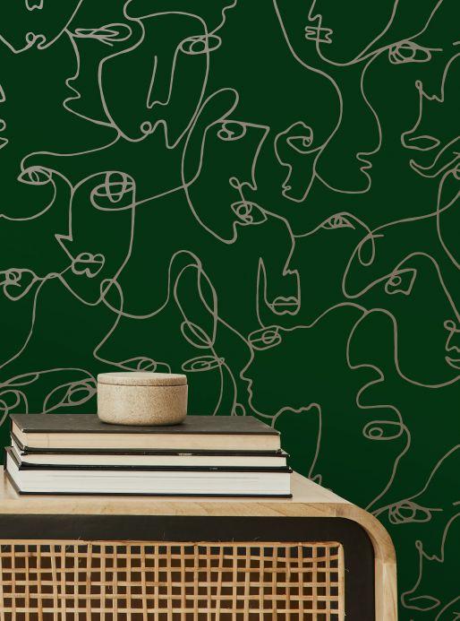 Wallpaper Wallpaper Zaralin green Room View