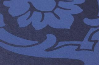 Papier peint Maradila Mat Damassé baroque Bleu cobalt