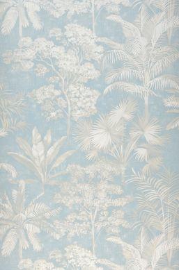 Papel de parede Alenia azul claro Largura do rolo