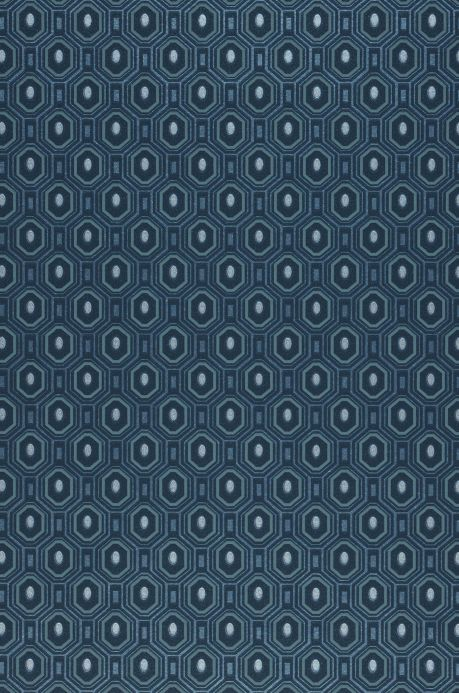 Geometric wallpaper Wallpaper Arkadias pearl blue A4 Detail