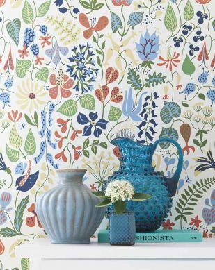 Papel pintado Eurynome azul claro Ver habitación