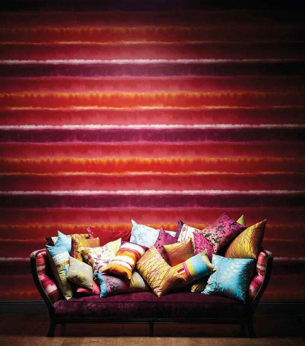 Striped Wallpaper Wallpaper Helios violet Room View