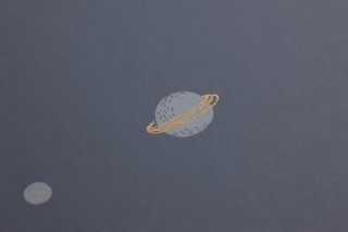 Wallpaper Moon Matt Moon Planets Starry sky Grey Light grey Pearl gold