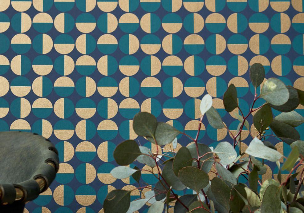 Turquoise Wallpaper Wallpaper Wahida water blue Room View