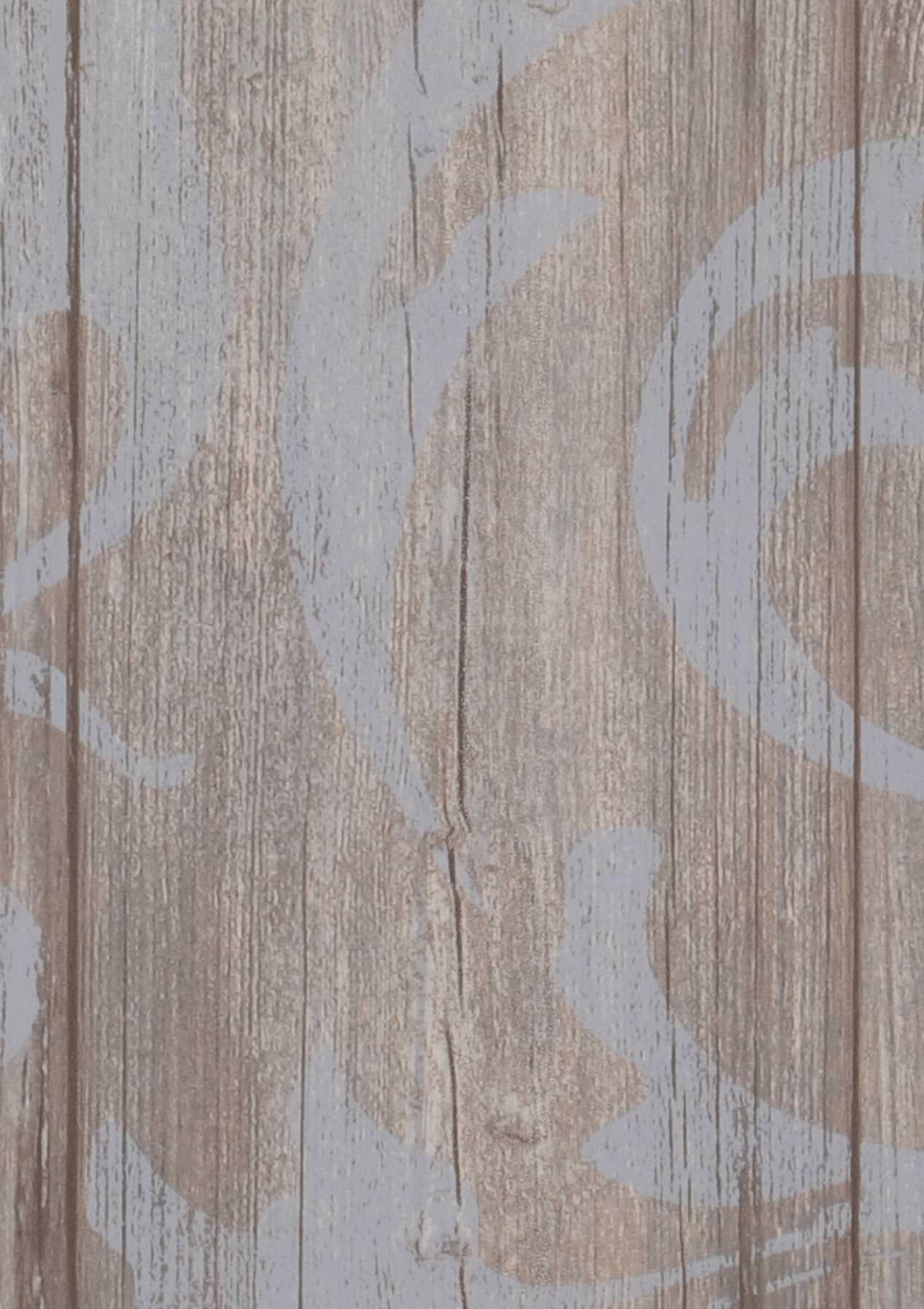Tapete medusa wood blassblau blassgraubraun graubraun for Tapete taubenblau