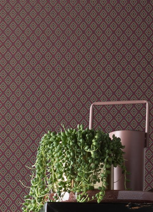 Textile Wallpaper Wallpaper Calaluna raspberry red Room View