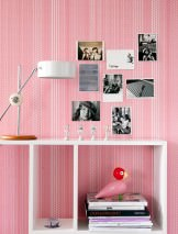 Wallpaper Dots and Stripes Matt Dots Stripes Cream Rose