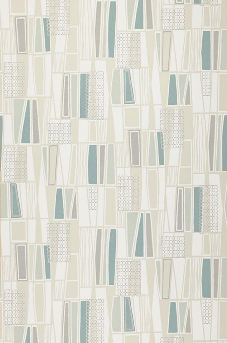 Nivian vert p le blanc cr me gris turquoise menthe gris soyeux vert p l - Papier peint des annees 70 ...