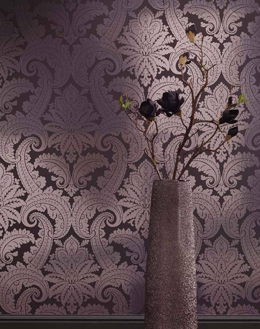 Papier peint nemesis gris noir argent lustre papier peint des ann es 70 - Papier peint annee 70 ...