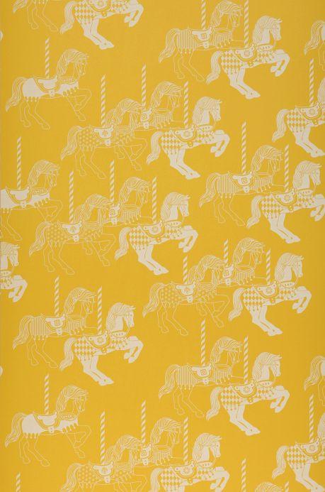 Papier peint enfants Papier peint Trinity jaune citron Largeur de lé