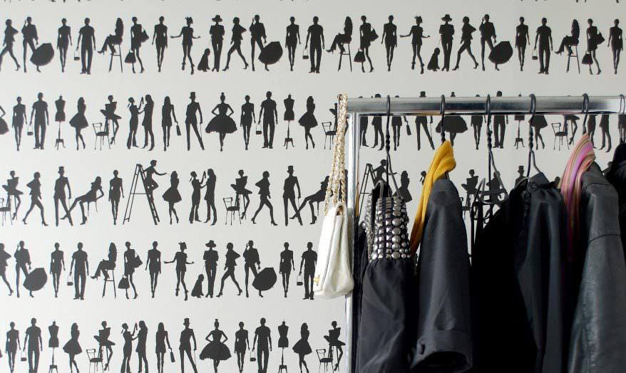 Muster Tapeten F?r Kleine R?ume : Black and White Fashion Wallpaper