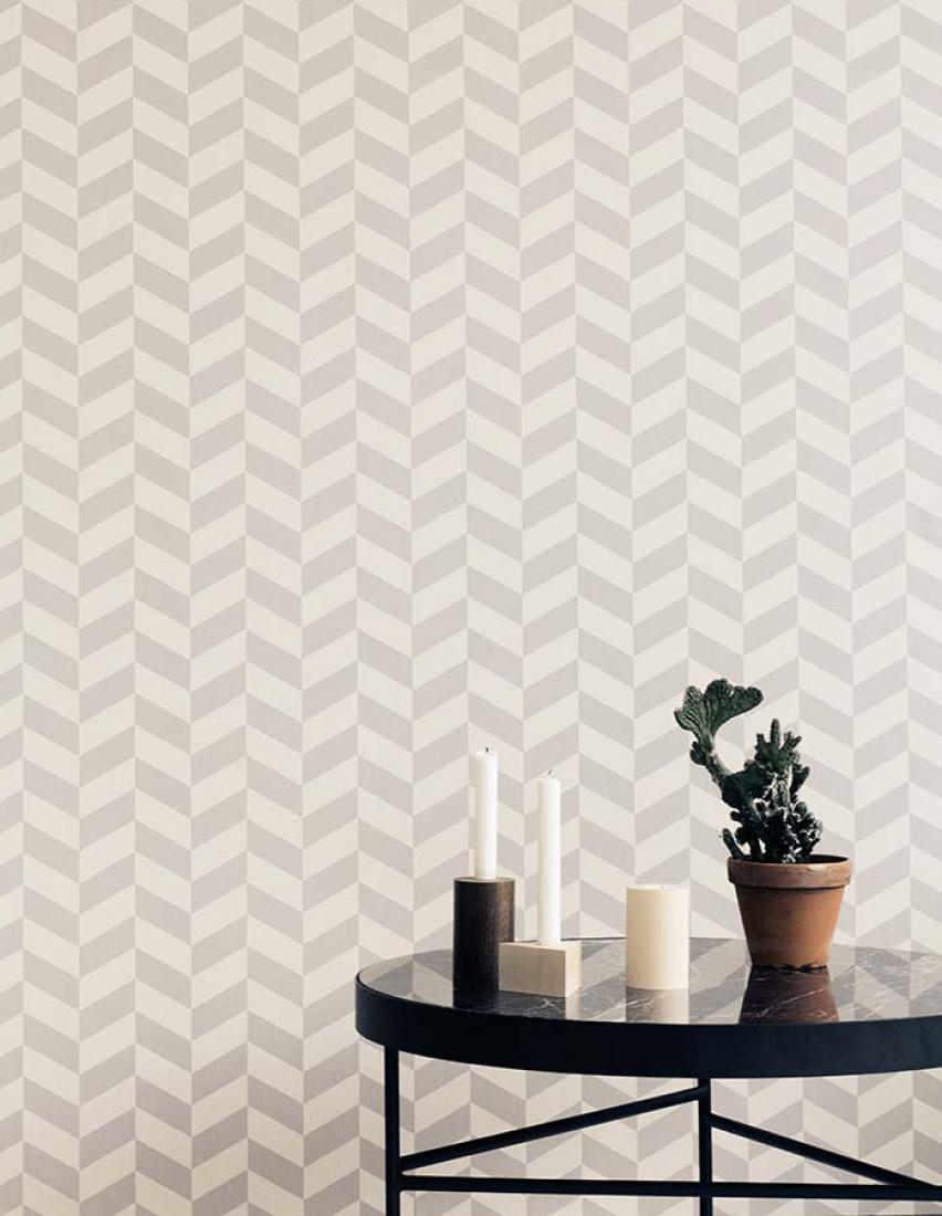 angle cremeweiss platingrau geometrische tapeten. Black Bedroom Furniture Sets. Home Design Ideas