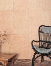 Papier peint Mawe Style batik Imprimé à la main Mat Shabby chic Points Beige Beige brun