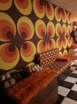 Wallpaper Apollo Matt Circles Brown Yellow Orange