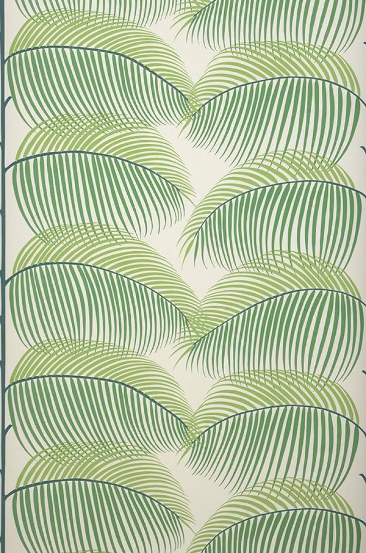 papier peint silvana blanc cr me vert bleu vert jaune. Black Bedroom Furniture Sets. Home Design Ideas