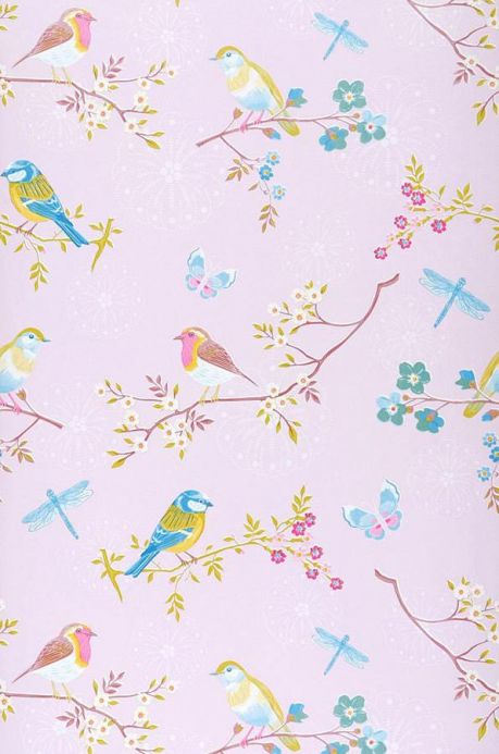 Animal Wallpaper Wallpaper Audrey pale pink Roll Width