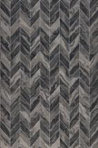 Wallpaper Sassari Matt Graphic elements Imitation marmor Grey tones Silver shimmer