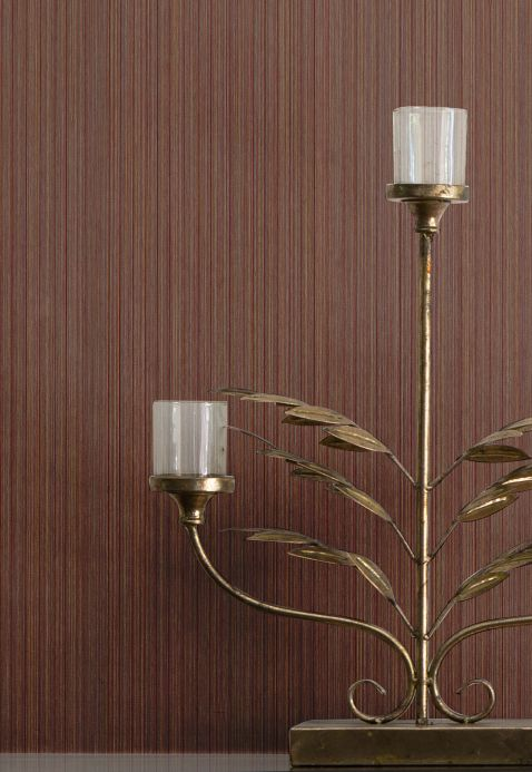 Textile Wallpaper Wallpaper Pandan brown tones Room View