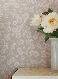 Wallpaper Laila grey beige