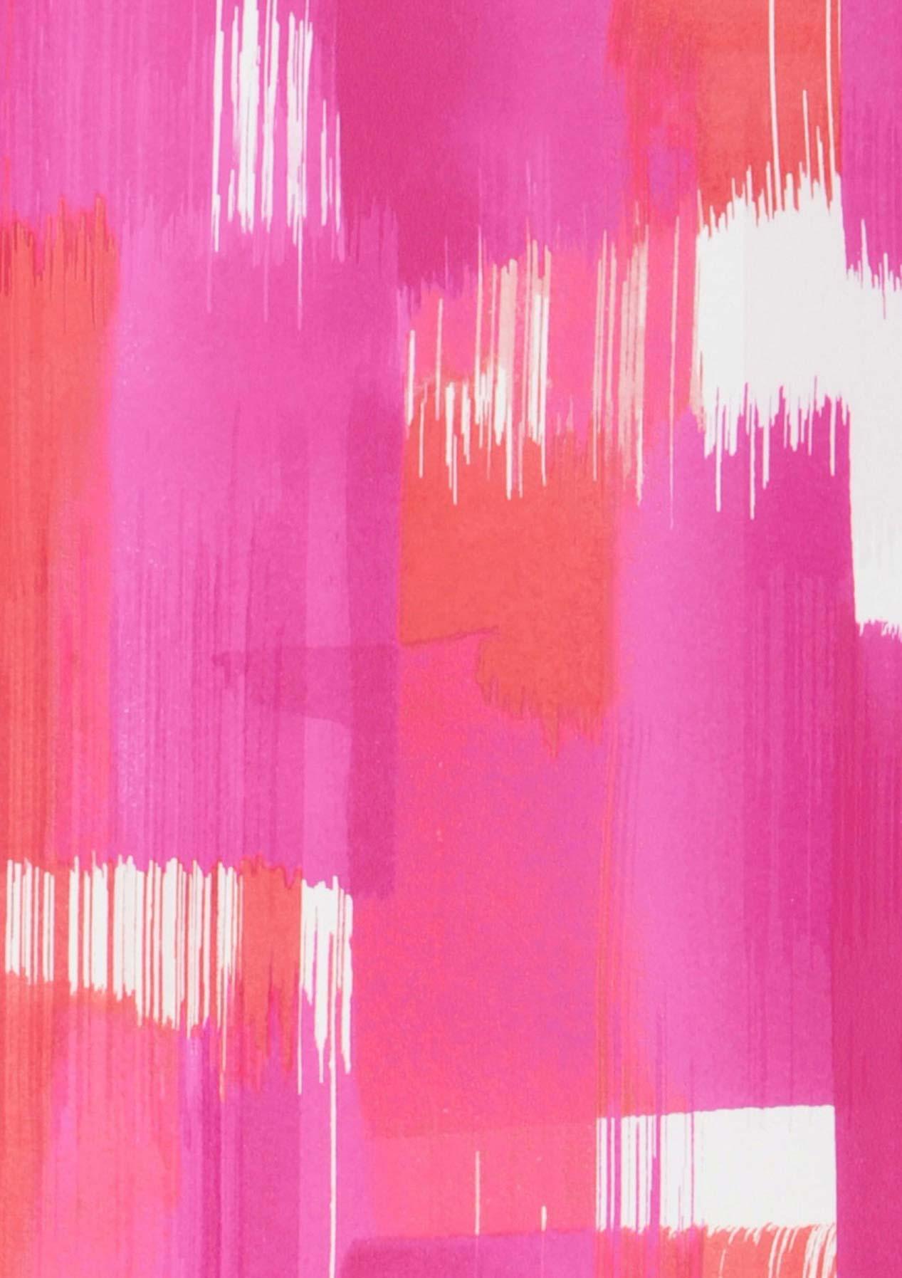 Papel pintado pandero rosa rojo blanco papeles de los 70 - Papel pintado de los 70 ...