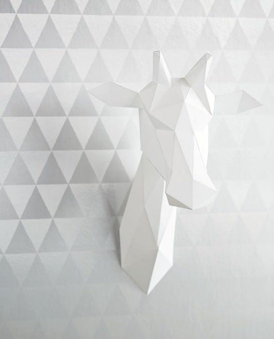 Carta da parati Eulan Brillante Triangoli Argento lucido Argento brillante
