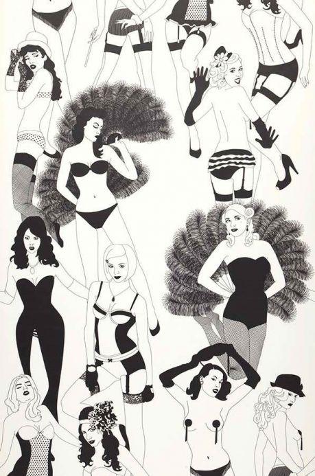 Bedroom Wallpaper Wallpaper Burlesque black Roll Width