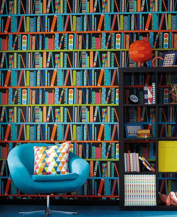 Archiv Papel de parede Ralo azul Ver quarto