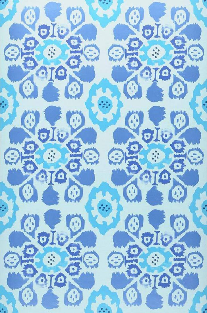 Tapete rosane blauweiss dunkelblau hellblau for Tapete hellblau muster