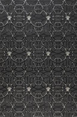 Papel de parede Nara cinza escuro Largura do rolo
