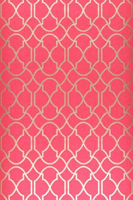 Papel pintado telenzo rojo frambuesa oro papeles de - Papeles de los 70 ...