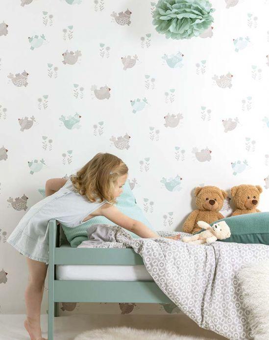Archiv Papel pintado Nagini gris beige claro Ver habitación